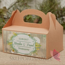 Pudełko na ciasto eko - personalizacja kolekcja WOODLAND