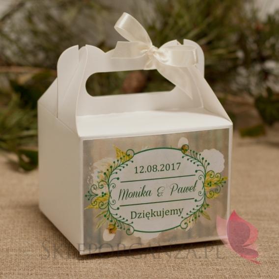 WOODLAND Pudełko na ciasto małe - personalizacja kolekcja WOODLAND