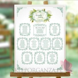 Plan stołów – personalizacja kolekcja WOODLAND WHITE
