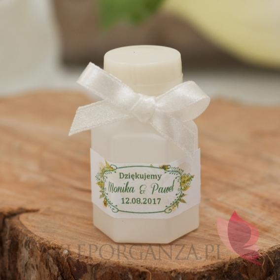Bańki mydlane Bańka mydlana buteleczka – personalizacja kolekcja WOODLAND WHITE