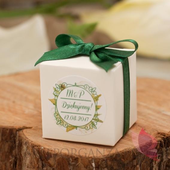 Pudełko kostka 5cm – personalizacja kolekcja WOODLAND WHITE