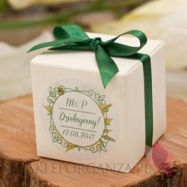 Pudełko kostka 7cm – personalizacja kolekcja WOODLAND WHITE
