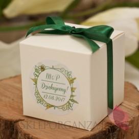 WOODLAND WHITE Pudełko kostka 8cm – personalizacja kolekcja WOODLAND WHITE