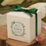 Pudełko kostka 8cm – personalizacja kolekcja WOODLAND WHITE