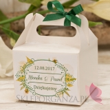 WOODLAND WHITE Pudełko na ciasto średnie – personalizacja kolekcja WOODLAND WHITE