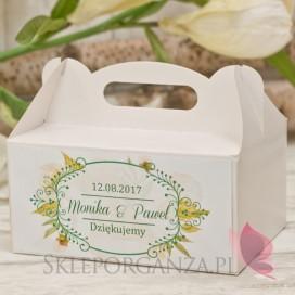 Pudełko na ciasto eko – personalizacja kolekcja WOODLAND