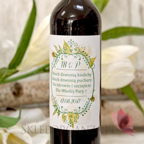 Etykieta na alkohol – personalizacja kolekcja WOODLAND WHITE