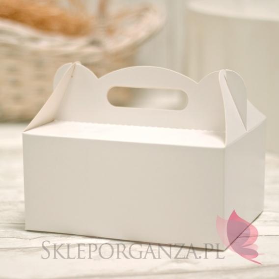 Pudełka weselne na tort Pudełko na ciasto białe duże