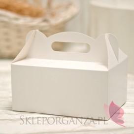 Pudełko na ciasto białe duże