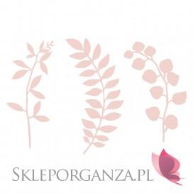 Papierowe dekoracje Dekoracyjne gałązki papierowe pudrowy róż, 9szt.