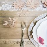 Papierowe dekoracje Dekoracyjne kwiaty pudrowy róż, 3szt.