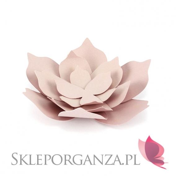Dekoracyjne kwiaty pudrowy róż duże