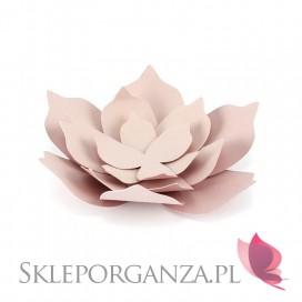Dekoracyjne kwiaty pudrowy róż duże, 3szt.