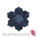 Papierowe dekoracje Dekoracyjne kwiaty granatowe duże, 3szt.