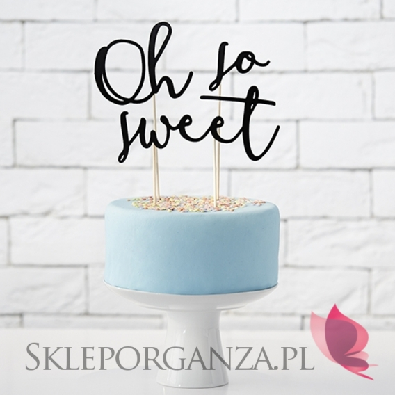 Toppery Topper na tort – Oh so sweet czarny