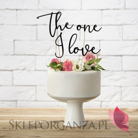 Topper na tort – The one I love czarny