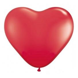 Serca Balony SERCA czerwone 20 cm, 6 sztuk