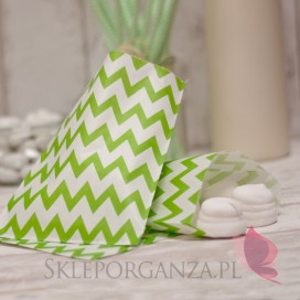 Papierowa torebka CHEVRON zielona