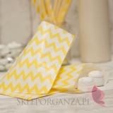 Pudełka i Torebki Papierowa torebka CHEVRON żółta
