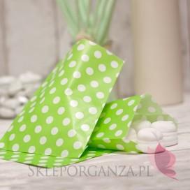Papierowa torebka KROPKI zielona