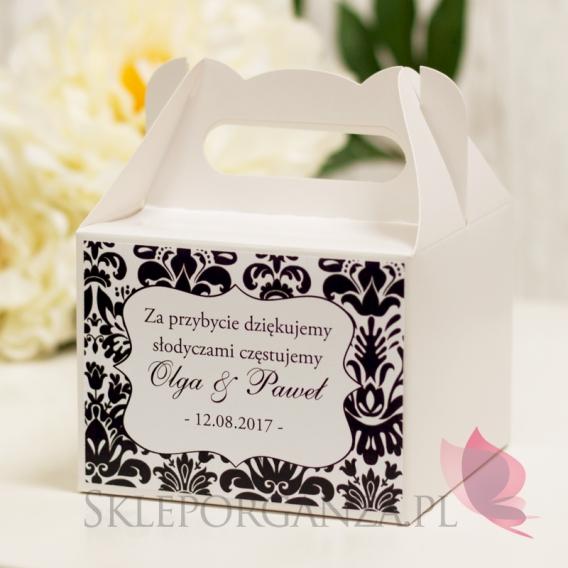Pudełka na ciasto Pudełko na ciasto małe - personalizacja kolekcja DAMASK