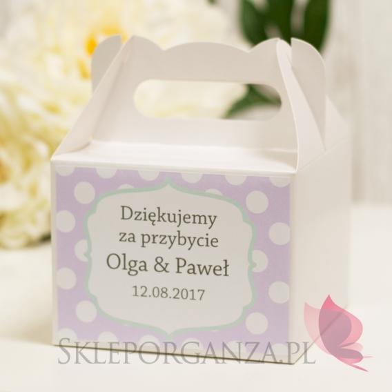 Pudełka na ciasto Pudełko na ciasto małe - personalizacja kolekcja KROPKI