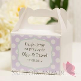 Pudełko na ciasto średnie - personalizacja kolekcja KROPKI