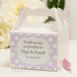 Pudełko na ciasto małe - personalizacja kolekcja KROPKI