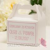 Pudełko na ciasto średnie - personalizacja kolekcja LOVE