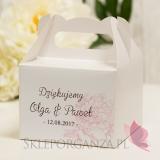 Pudełko na ciasto średnie - personalizacja kolekcja PIWONIA