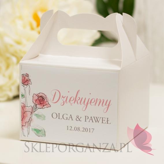 Pudełka na ciasto Pudełko na ciasto małe - personalizacja kolekcja VINTAGE ROSE