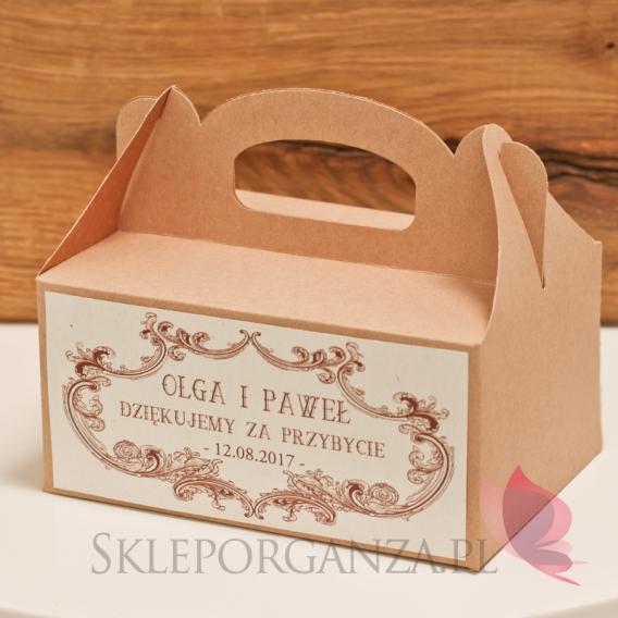 Pudełka na ciasto Pudełko na ciasto eko - personalizacja kolekcja VINTAGE