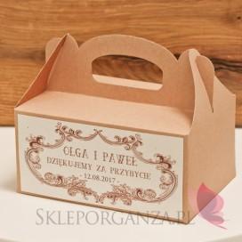 Pudełko na ciasto eko - personalizacja kolekcja VINTAGE