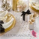 Organza z nadrukiem Organza z nadrukiem złote/srebrne kropki