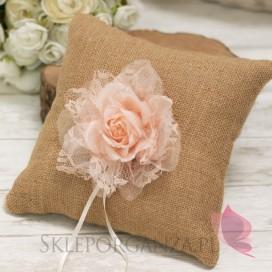 Poduszka na obrączki - VINTAGE pudrowy róż
