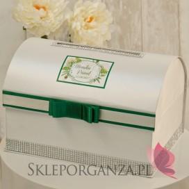 Kuferek na koperty - personalizacja WOODLAND WHITE