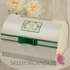 Pudełka na koperty Kuferek na koperty - personalizacja WOODLAND WHITE
