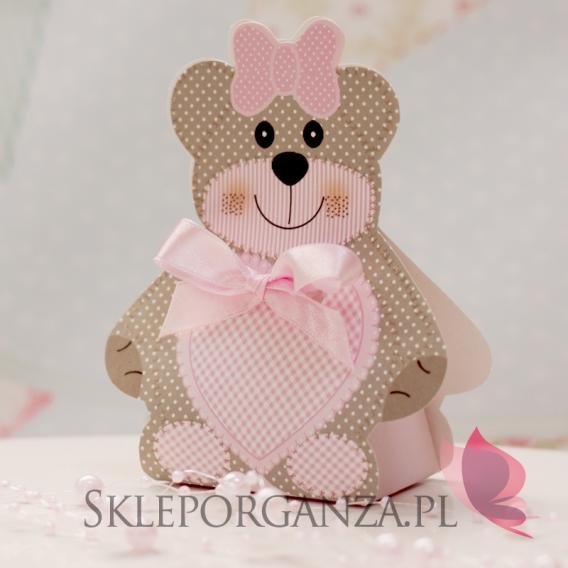 Upominki dla gości na Urodziny Pudełko MIŚ różowy