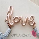 Balony foliowe Balony love metaliczne rose gold