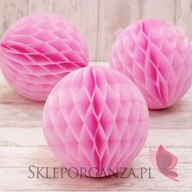 Papierowe kule plaster miodu Papierowa kula cukierkowy róż 20cm