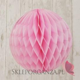 Papierowa kula cukierkowy róż 30cm