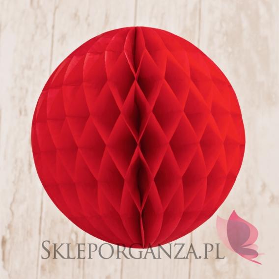 Papierowe kule plaster miodu Papierowa kula czerwona 30cm