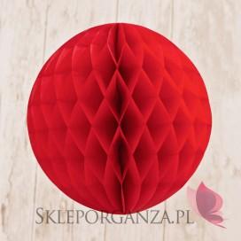 Papierowa kula czerwona 30cm