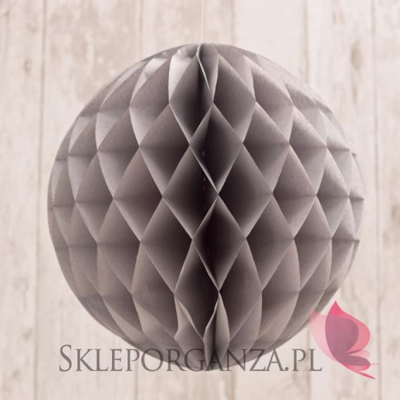 Papierowe kule plaster miodu Papierowa kula jasnoszara 30cm