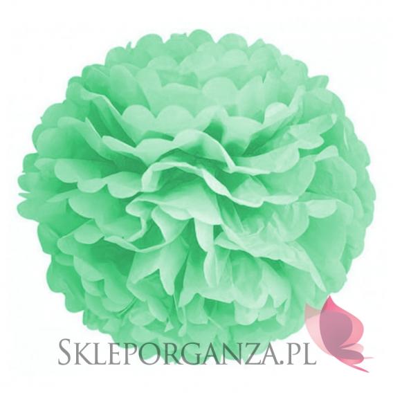 Papierowe kule kwiatowe pompony Papierowy kwiat, miętowy, 50cm
