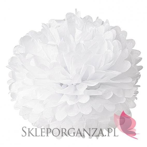 Romance Papierowy kwiat, biały, 50cm