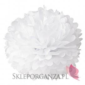 Papierowy kwiat, biały, 50cm