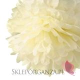 Papierowy kwiat, kremowy, 35cm