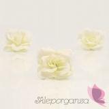 Róże do przylepiania kremowe, 24 szt