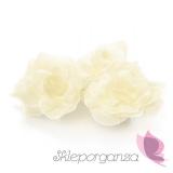 Kwiaty do przylepiania Róże do przylepiania kremowe, 24 szt